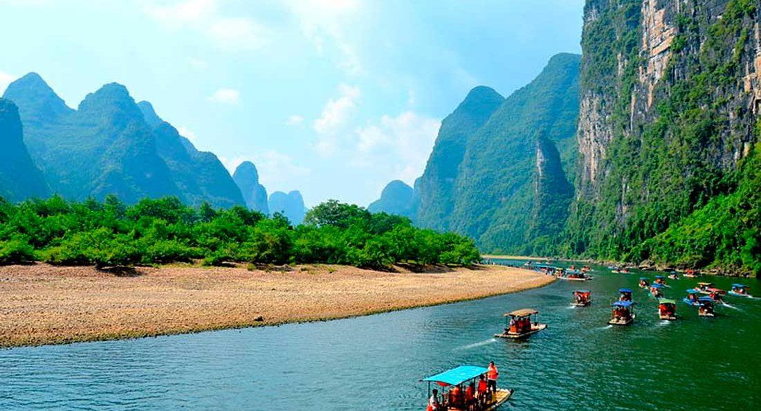 Туристические места в Китае Река Ли