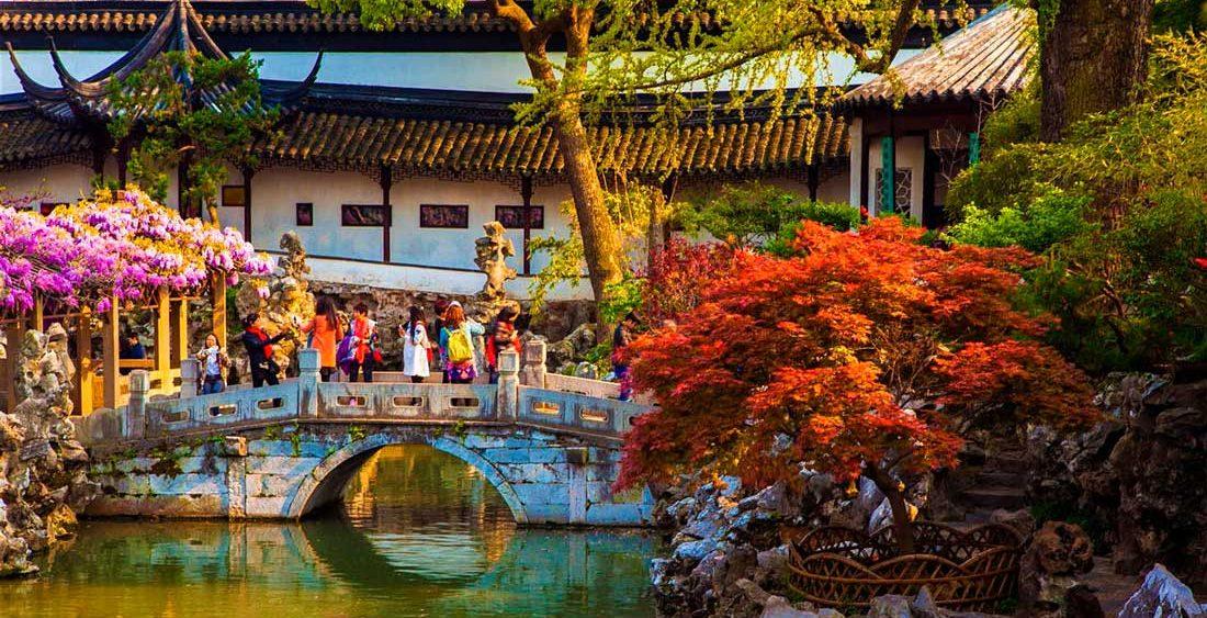 Классические сады в городе Сучжоу