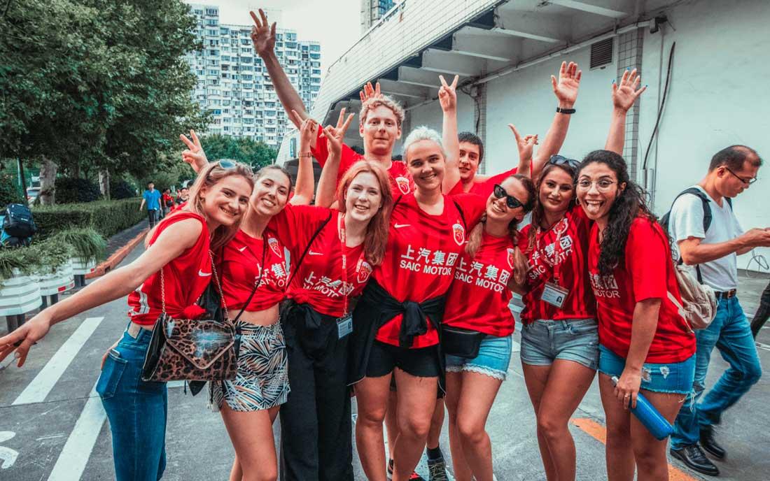 nuestros alumnos que estudian chino en Shanghai